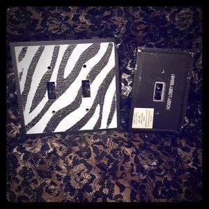 Zebra Light Switch Covers/Plates